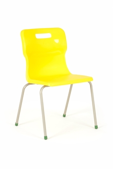 Titan 4-Leg Polypropylene Chair - Yellow thumbnail