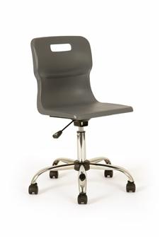 Titan Polypropylene Swivel Chair - Charcoal thumbnail