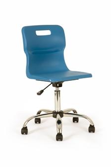 Titan Polypropylene Swivel Chair - Blue thumbnail