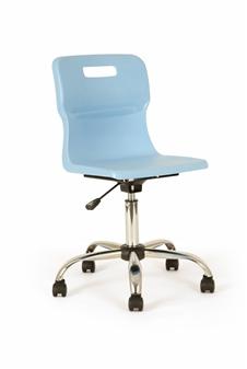 Titan Polypropylene Swivel Chair - Sky thumbnail