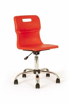 Titan Polypropylene Swivel Chair - Red thumbnail