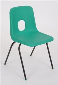 Hille E-Series Plastic Chair - Jade Green thumbnail