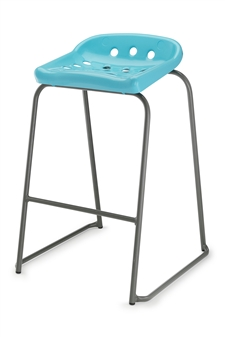 Hille Pepperpot Stool - Baby Blue thumbnail