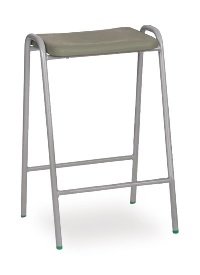 Hille Flat Top Stool Charcoal thumbnail