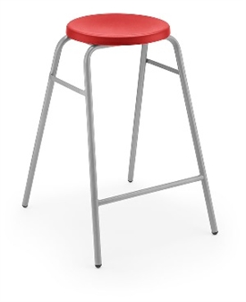 Hille Button Stool Red thumbnail