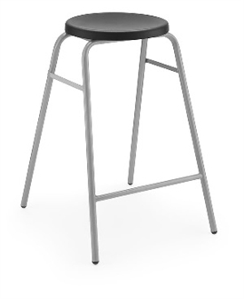 Hille Button Stool Black thumbnail