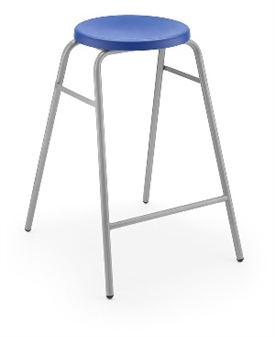 Hille Button Stool Blue thumbnail