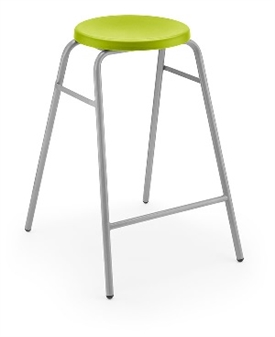 Hille Button Stool Green thumbnail