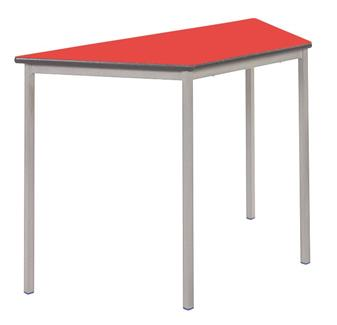 Fully welded trapezoidal classroom tables for Trapazoid table