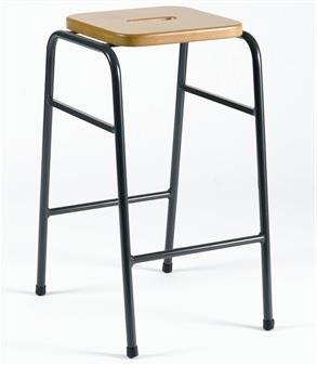 25 Series Stacking Stool - Polished MDF Seat With Hand-Hole thumbnail