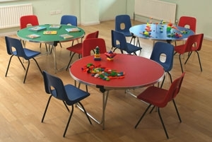 4ft Round Folding Table With Chairs