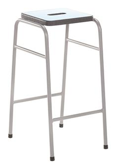 25 Series Stacking Stool With Coloured Laminate Seat