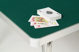 Baize Covered Flush Edge For Card Playing