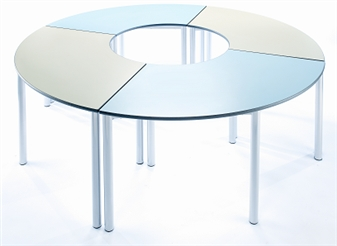 4 x Curved Meet Tables