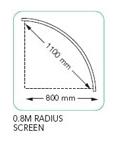 0.8m Radius Screen