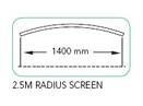 2.5m Radius Screen