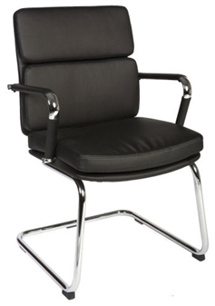 Charles Eames Style Medium Back Visitor Chair - Black