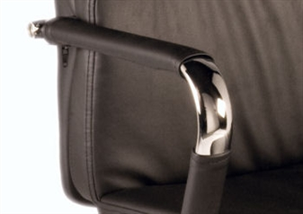 Chrome Arms & Black Arm Covers