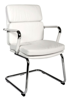 Charles Eames Style Medium Back Visitor Chair - White