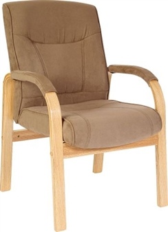 Suede Effect Visitor Chair