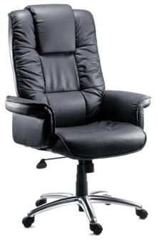 Black Leather Executive Armchair
