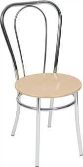 Beech/Chrome Bistro Chair