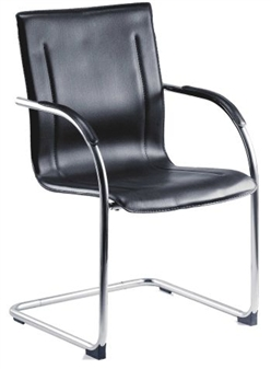 Cantilever Leather Faced Reception Armchair 2
