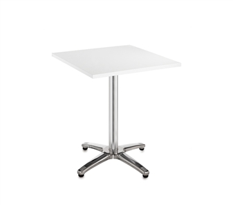 Chrome Leg Base Cafe/Bistro Table - Square - White