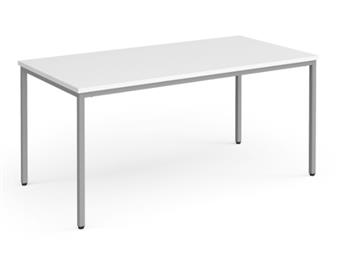 Multi-Purpose Table - Silver Frame - Semi-Circular