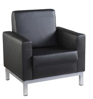 Helsinki Leather Faced Sofa - 1-Seater