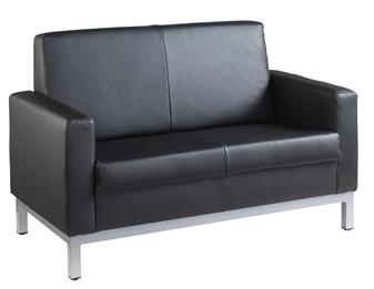 Helsinki Leather Faced Sofa - 2-Seater
