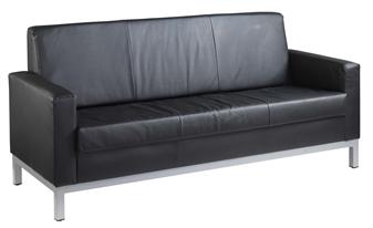 Helsinki Leather Faced Sofa - 3-Seater