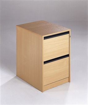 2-Drawer Wooden Filing Cabinets - Strip Handles