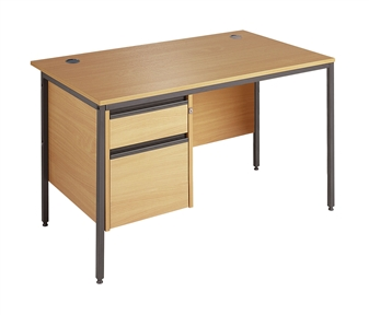 Budget Office Desk (A) With 2-Drawer Pedestal