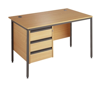 Budget Office Desk (A) With 3-Drawer Pedestal