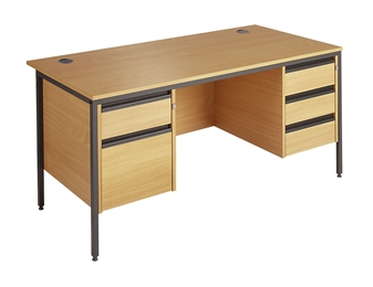 Budget Office Desk With 1 x 2-Drawer & 1 x 3-Drawer Pedestal