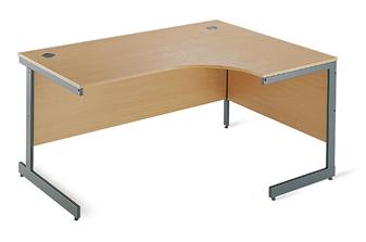 C-Frame Radial Desk - Right-Hand Return