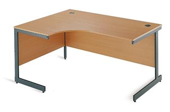 C-Frame Radial Desk - Left-Hand Return