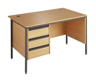 Budget Office Desk (B) With 3-Drawer Pedestal