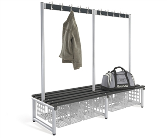 Showing Single & Twin Compartment Storage Baskets