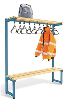 Single Sided Bench With Overhead Hanging