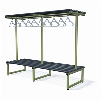 Double Sided Bench With Overhead Hanging