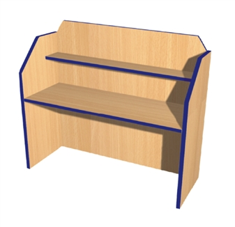 Double Study Carrel - Wooden Frame