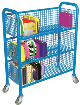 Single-Sided Mobile Lunchbox Trolley - Blue