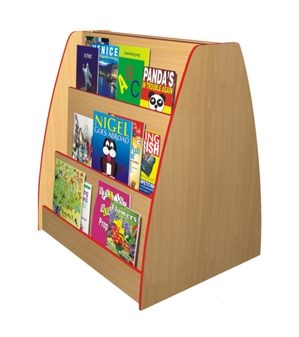 Double-Sided Face-On Bookcase - 3-Tier