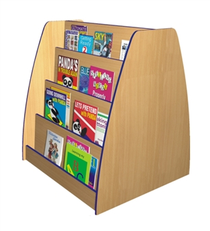Double-Sided Face-On Bookcase - 4-Tier