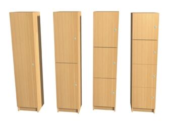 Wooden Lockers - 1800mm High