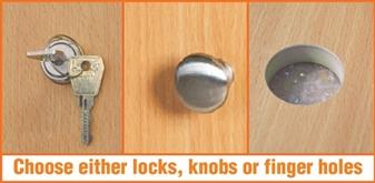 Locks, Knobs, Or Finger Holes