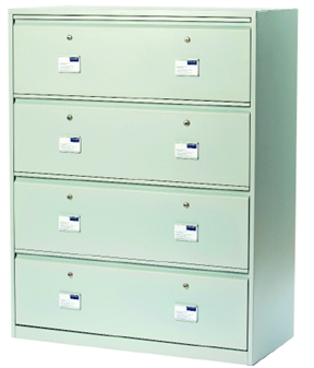 Security Side Filing Cabinet - 4-Drawer
