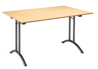 Folding TX Rectangular Table - Hammerscale Grey Frame
